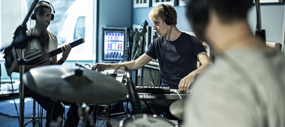 Dorian Concept  recording  at Red Bull Studio Paris, France on September 18th , 2014