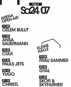 Timetable Samstag
